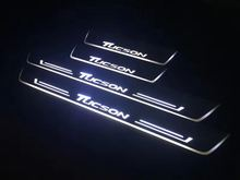 Qirun акриловые светодио дный светодиодные Перемещение двери scuff Добро пожаловать свет Путь лампы порога пластины накладки для hyundai Tucson 2015 2016