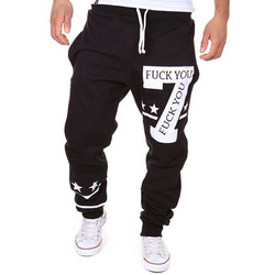 2017 spring mens casual sweat pants letters harem baggy fitness cotton drawstring male pants tracksuit slacks.jpg 250x250