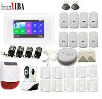 SmartYIBA 3g охранной сигнализации системы беспроводной управление сообщение/телефонный звонок GPRS работать с Amazon Alexa для Умный дом