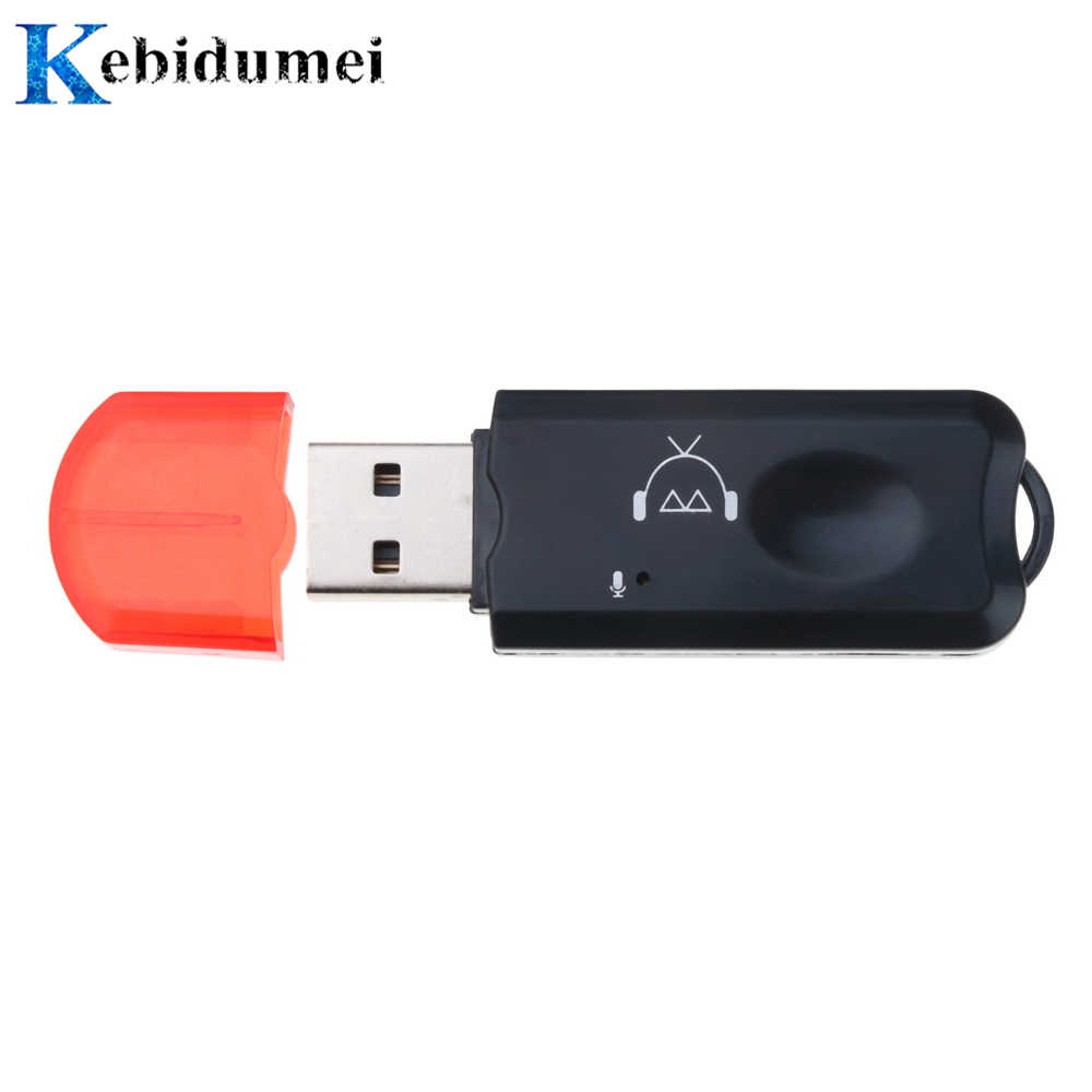 Kebidumei USB Bluetooth V2.1 receptor de Audio estéreo inalámbrico manos libres bluetooth adaptador Dongle Kit para altavoz para coche iphone