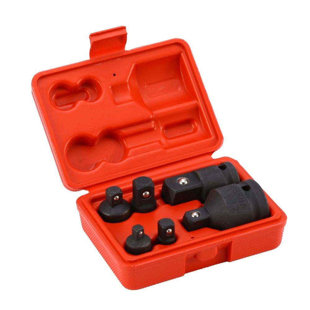 6 Teile/los 1/4 1/2 3/8 3/4 Schlagschrauber Heavy Duty Stick Buchse Adapter Minderer Luft Auswirkungen Adapter Für Hand Tool Set Werkzeuge