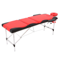 Abody 3 Fold Portable Massager Table 84''L Facial SPA Bed Therapy Massage Bed Mixed Color Tattoo Beauty Salon Device Relaxation