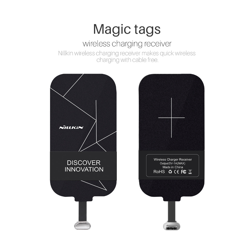 Nillkin Qi Wireless Charger Receiver Magic Tag Type C Charging Universal Reveres Port For Smartphone Adapter Receptor Huawei Honor 8 P9 Lite Oneplus A3000 Lg G5