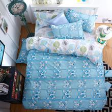 2016 New Bedding Set Polyeter Bed Sheets Lovely Dog Duvet Cover Flat Bedspread Sets Home Textile Juegos de Sabanas Wholesale