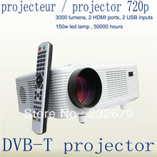 Cheapest !! 3000lumens portable LED home theater projector video game digital projector proyector beamer Free Shipping
