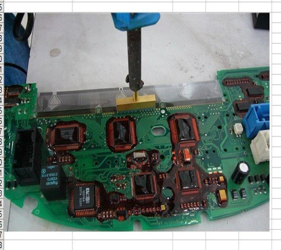 Strumento Di Cavo A Nastro Per Riparazione Pixel Pixel Display LCD GIALLO Per BMW E38 E39 E53 X5