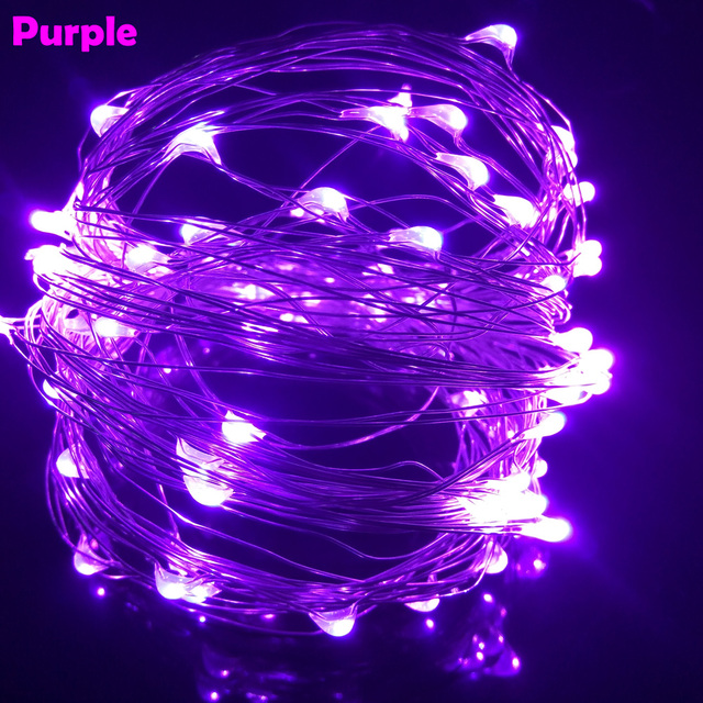 10M 33FT 100 led USB Outdoor Led Copper Wire String Lights Christmas Festival Wedding Party Garland Decoration Fairy Lights 4