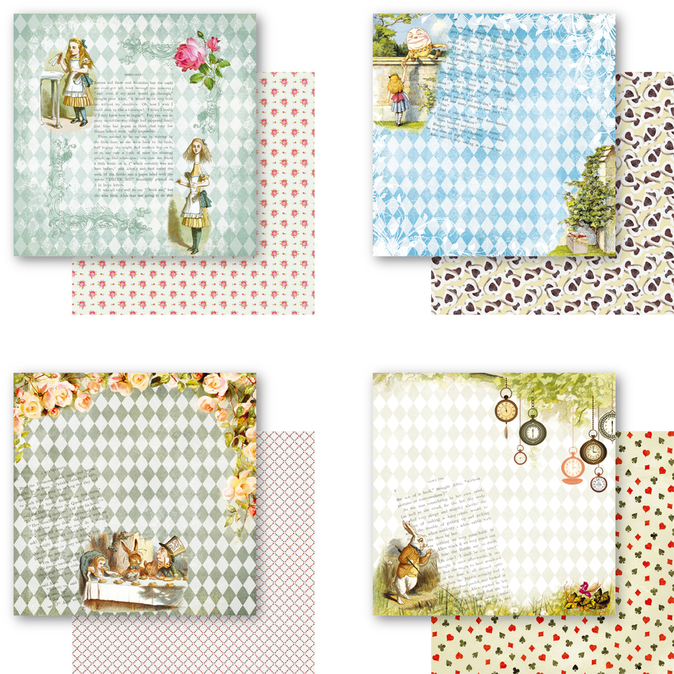 8 Pcs Checkered Paper Pad for Scrapbooking DIY Happy Planner Card Making Craft