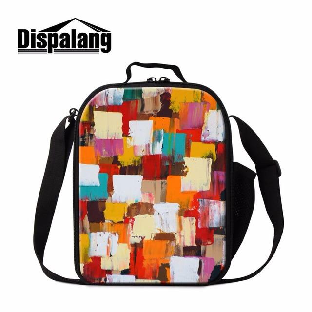 Dispalang elegante impresión de la acuarela loncheras niños bolsas de comida de picnic portátil refrigerador aislado bolsa de envases de comida para adultos
