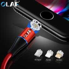 OLAF 3A Fast Charging Magnetic Micro USB Type C Cable Charger For iPhone 6 7 8 Plus X XR X