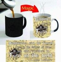 幸福引用ホグワーツマグコーヒーマグ消える変換カップ冷たい熱い熱変える色マジックマグティーカッ