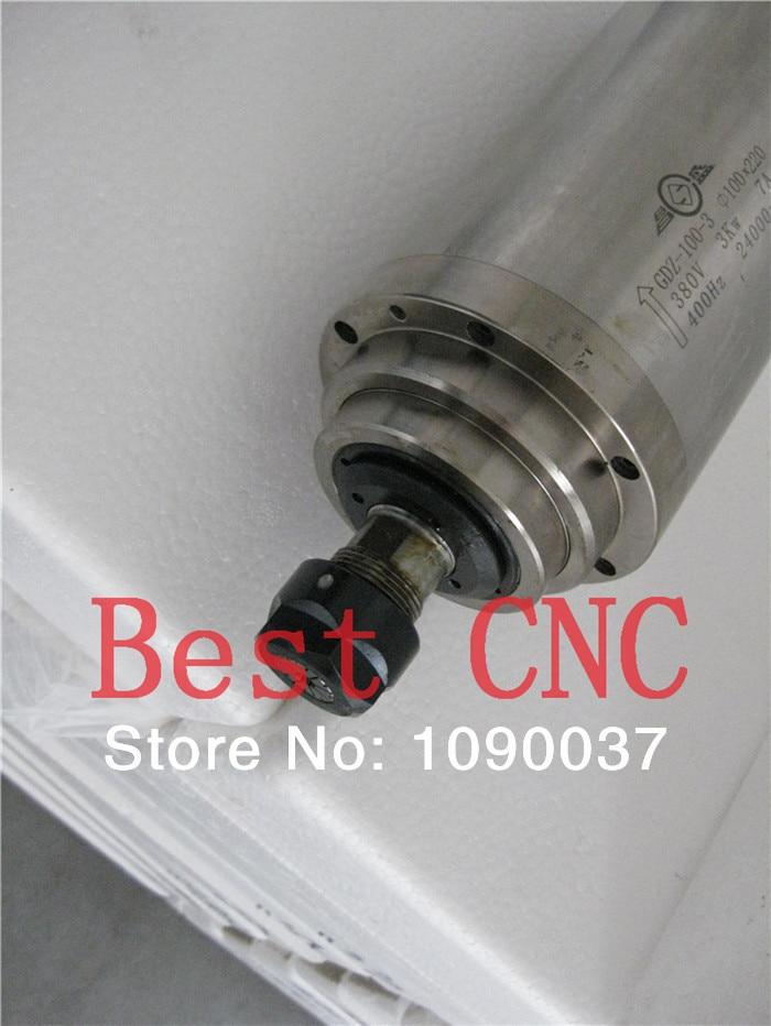 Купить с кэшбэком High quality ER-20 100mm 3.0kw 220v 380v cnc spindle motor 3kw CNC Spindle motor,spindle motor for cnc