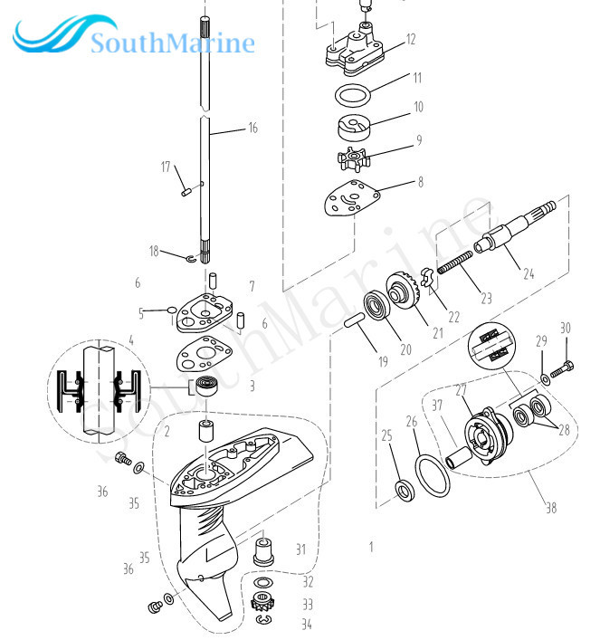 outboard engine f2 6 030000201 propeller shaft for parsun hdx 4 mustang steering diagram outboard engine f2 6 030000201 propeller shaft for parsun hdx 4 stroke f2 6 boat motor in boat engine from automobiles & motorcycles on aliexpress com