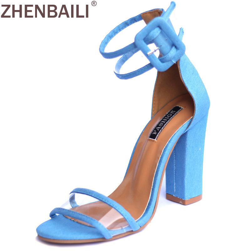 2017 Concise Nude Suede High Heels Sandals Women Transparent Ankle Strap Summer Dress Shoes Woman Open Toe Gladiator Sandals choudory 2017 summer high heel sandal open toe glitter embellished thick heels woman shoes high quality suede ankle strap shoes