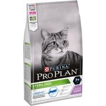 Сухой корм Purina Pro Plan для стерилизованных кошек и кастрированных котов старше 7 лет, с индейкой, Пакет, 1.5 кг