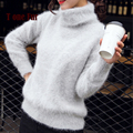 2017 New Knitted Real Mink Cashmere Pullovers Turtleneck Natural Pure Mink Cashmere Sweaters Hot Sale Top Rated Wholesale KFP962