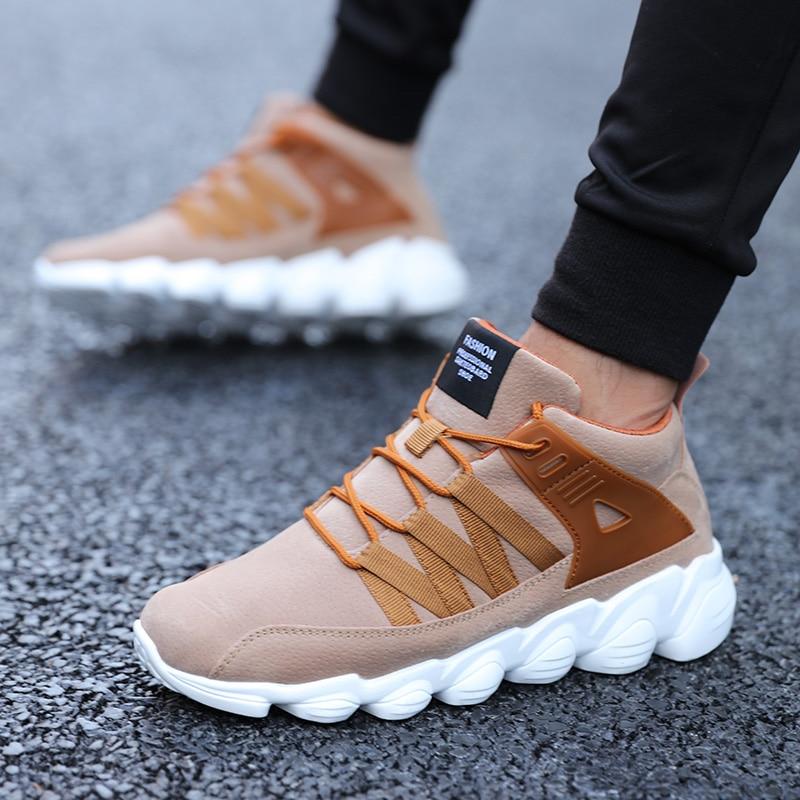 В Новинка! Повседневные туфли для Для мужчин весна осень хорошее качество замши Обувь Марка Trend Дышащие Модные мужские кроссовки 2018