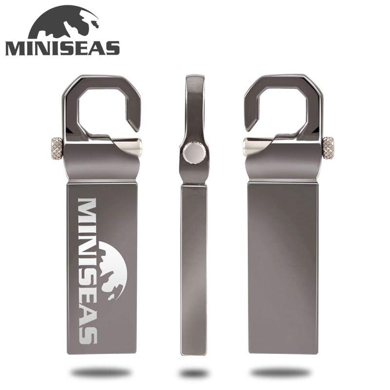Miniseas clé Usb Nouveau porte-clés en métal 8G/16G/32G/64G Usb 2.0 Mémoire clé mémoire Usb Clé Usb pour PC