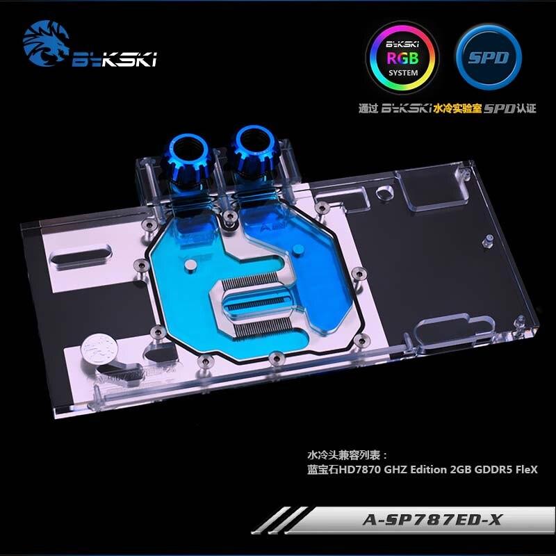 Bykski GPU Water Block for Sapphire HD7870 GHZ Edition 2GB GDDR5 FleX Full Cover Graphics Card water coolerBykski GPU Water Block for Sapphire HD7870 GHZ Edition 2GB GDDR5 FleX Full Cover Graphics Card water cooler