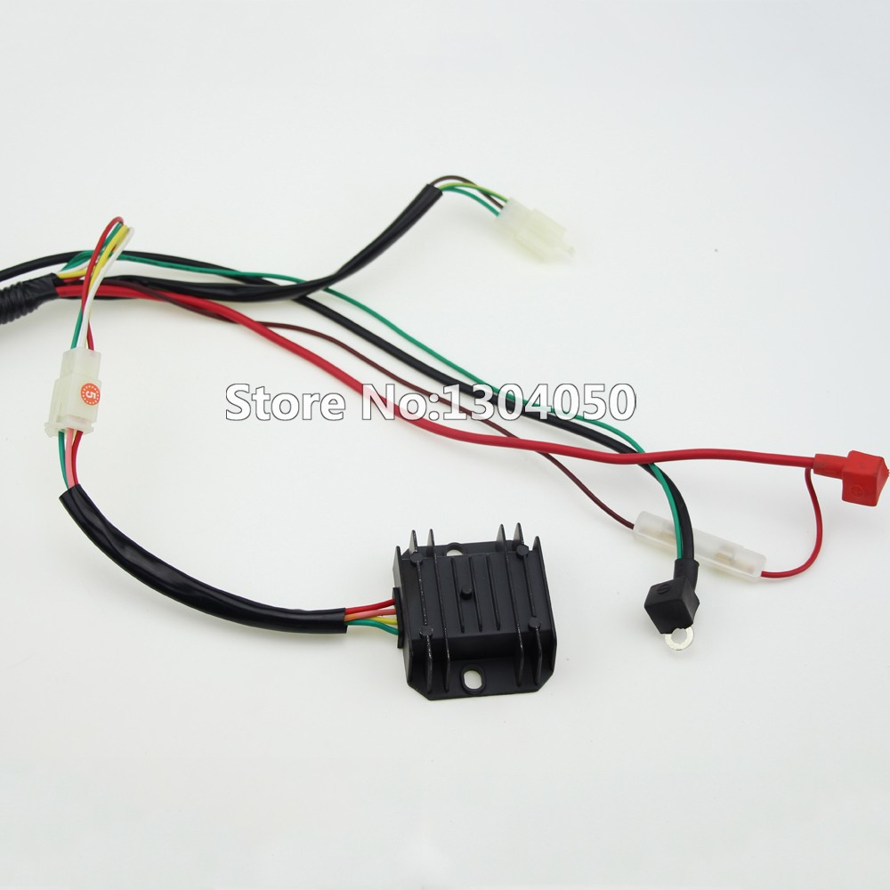 Buggy Wiring Harness Loom Gy6 Cdi Electric Start Stator 8 Coil C7hsa Wire Stud High Quality Complete Electrics All