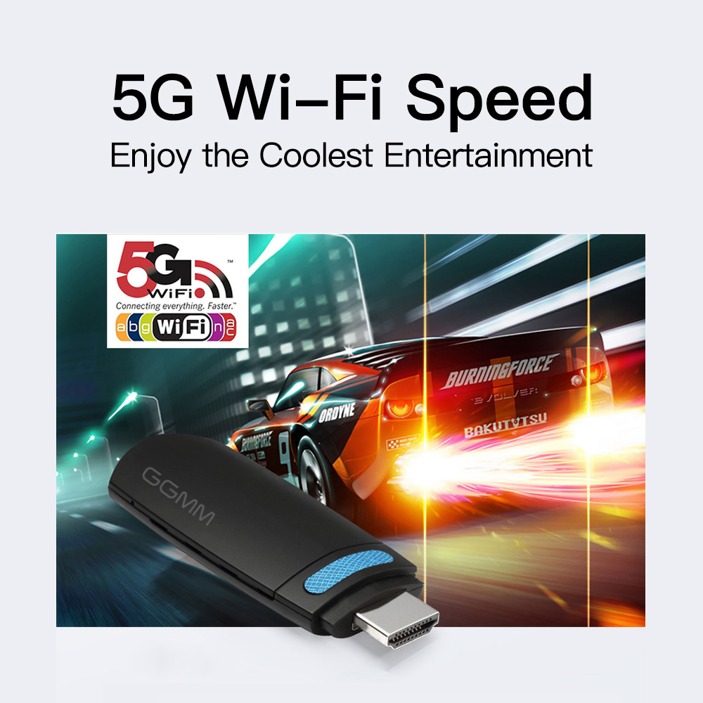 GGMM Mini HDMI Dongle TV Stick HD 1080P Wireless WiFi Dongle Display Miracast Support 5G/2.4G AirPlay DLNA for Video YouTube etc-in TV Stick from Consumer Electronics    3