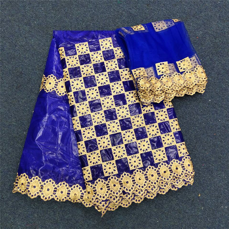 2019 nouveauté tissu africain bazin riche getzner avec perles cordon dentelle tissu guinée brocart tissu pour mariage 14L061406-in Tissu from Maison & Animalerie    1