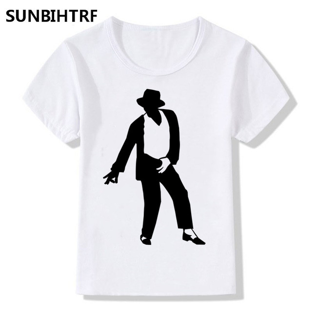 02388856 2018 Michael Jackson's Classic Dance Moves Print Cool T-Shirts For Children Big  Boy and Girl Summer Tops Tees Baby Clothes