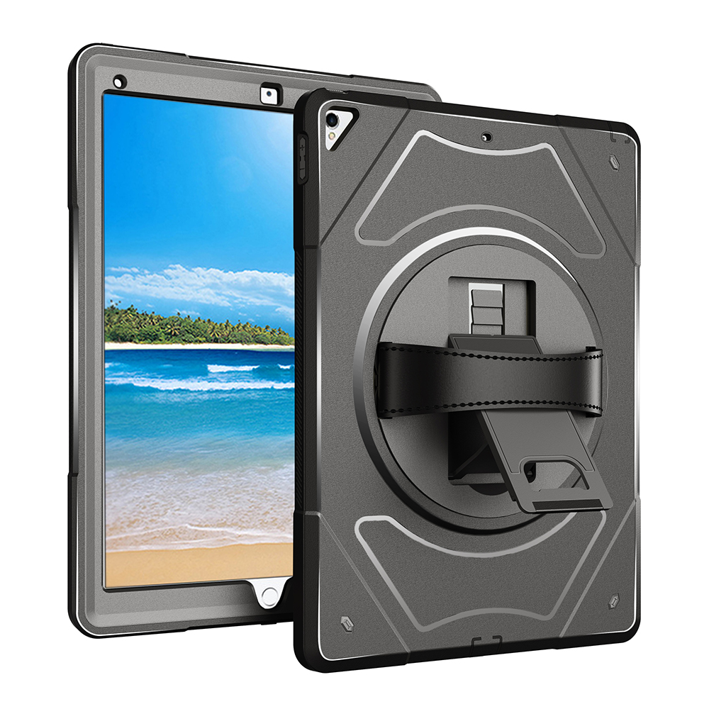 For Apple iPad Pro 12.9 Case with 360 Degree Rotating Hand Strap and Stand,Miesherk Shockproof Dustproof Protector for 12.9 inch