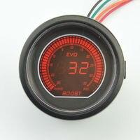 Black 52mm Sunglasses Piece Gauge Turbine Table Digital Red Blue LCD Boost Meter 35 PSI Free