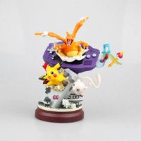 Pokeball Anime Pikachu Charmander Mew Action Figure GK Model Game machine Decoration Toys