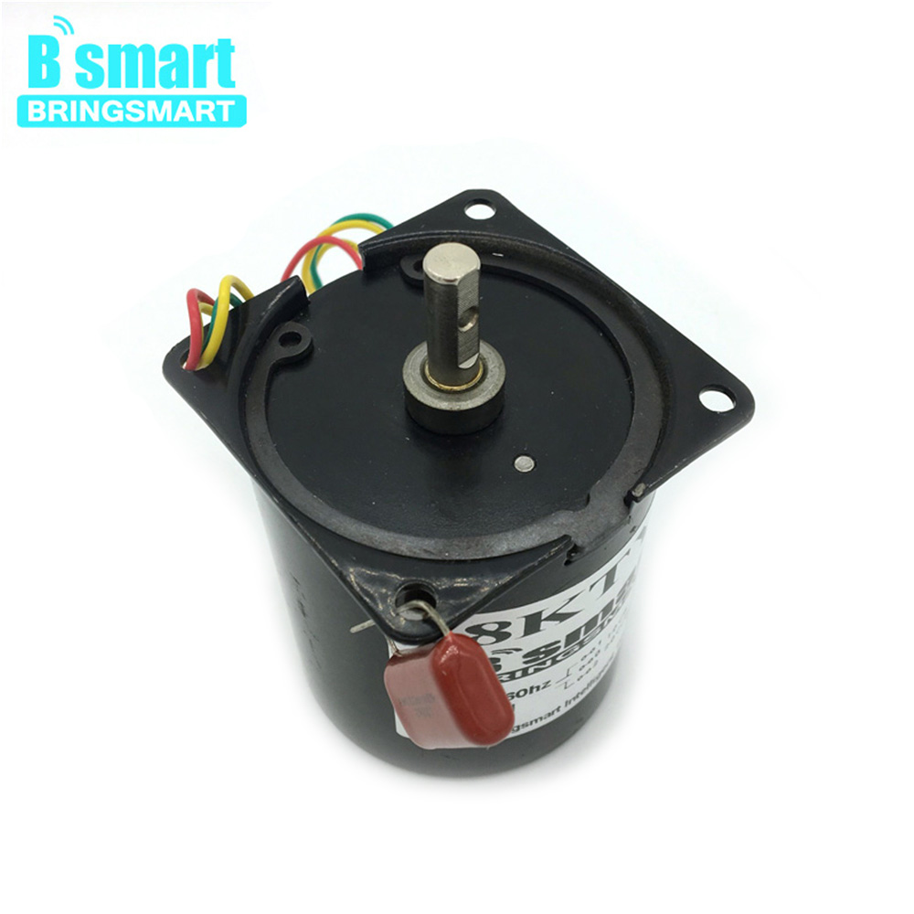 Bringsmart <font><b>68KTYZ</b></font> Synchronous AC Motor 220v Slow Speed Reversible Reducer Gears 2.5rpm Permanent Magnet Mini Gear Motors image
