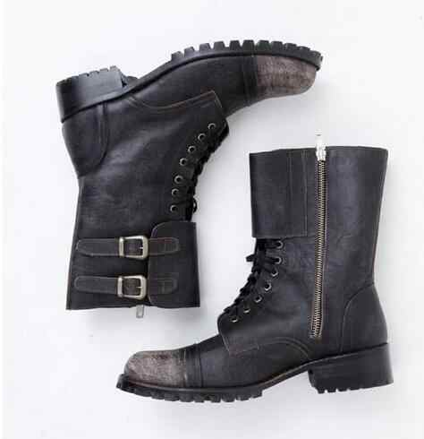 f860c79f1a4 ... Brand Retro Winter Boots Men Cowboy Leather Shoes Men Big Size Roma  Military Boots Zipper Round ...