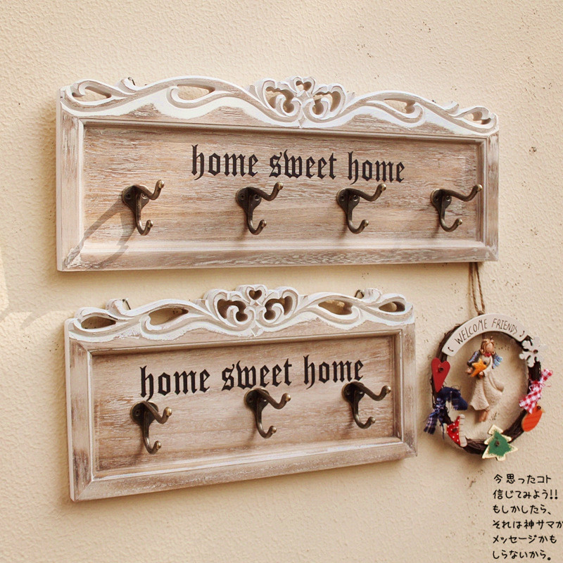 New Creative Home Decor Retro Carved Wooden Store Wall Mounted