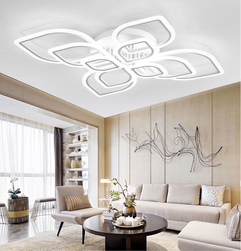 HTB12a1UXULrK1Rjy0Fjq6zYXFXaZ Modern Chandeliers Led to Living Room Bedroom Dining Room Acrylic Ceiling Lamp Chandelier Home Indoor Lighting