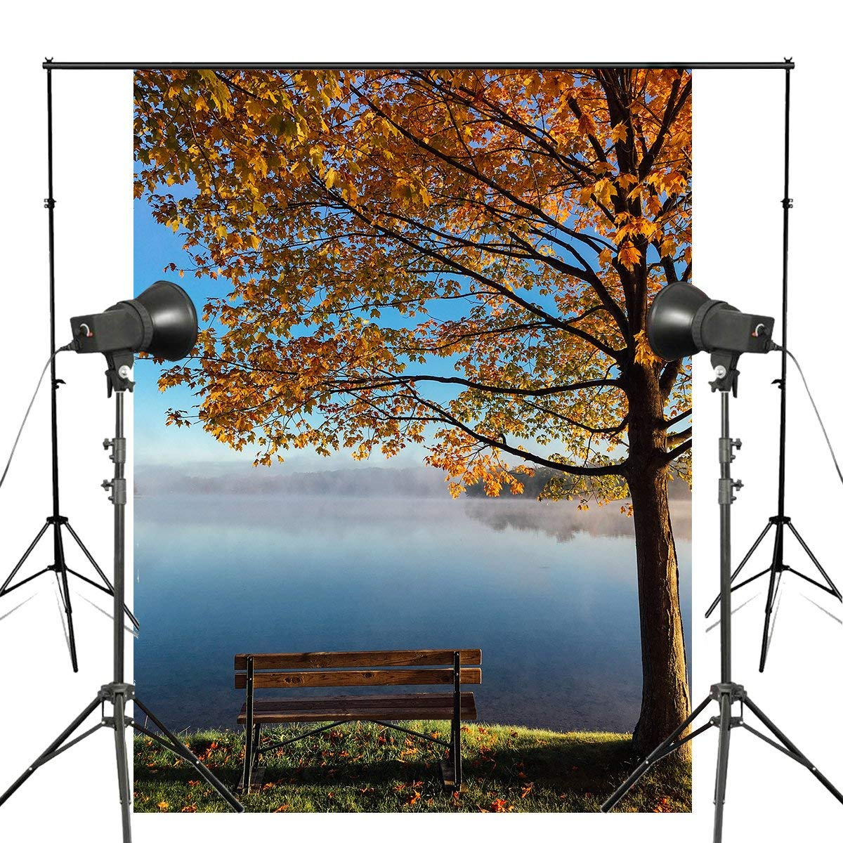 Autumn Fall Maple Trees Photography Background 150x220cm Giant Wall Mural Landscape Scenery Backdrop Studio Props
