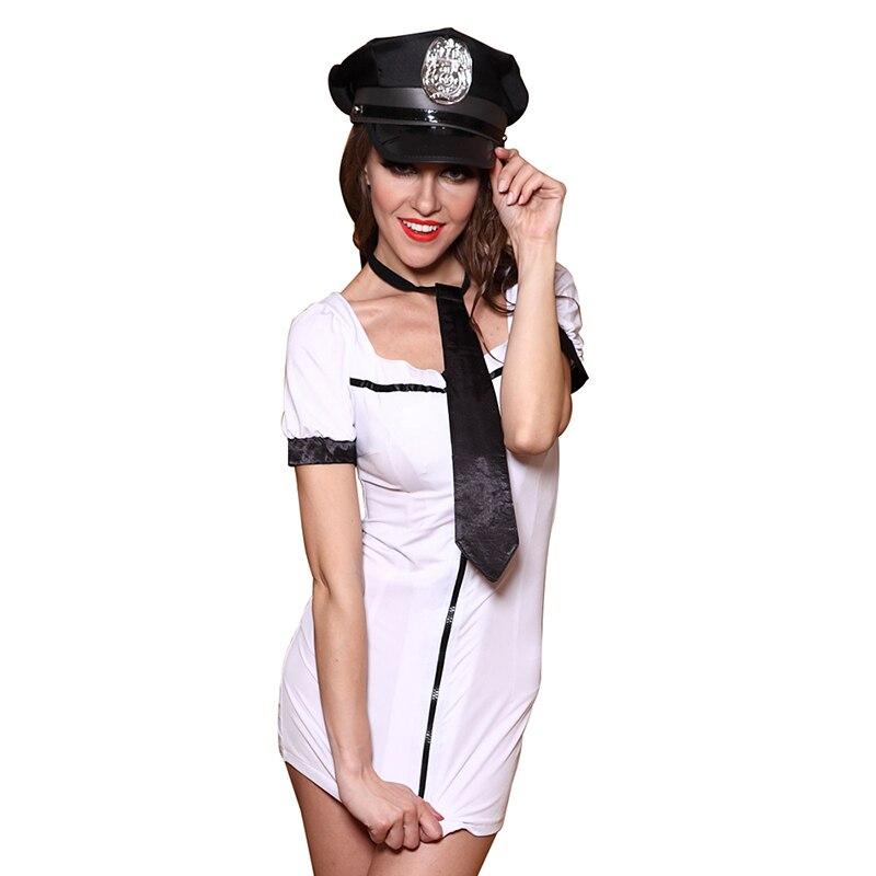 Womens Underwear Sexy Lingerie Policewoman Uniform Ladies Nightclub Clothing Play Temptation Suit Female Costumes