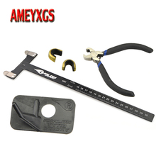 1set Archery Recurve Bow T Square Ruler Copper Buckle Pliers Kit With Plastic Arrow Rest Right Hand Hunting Shooting Accessories