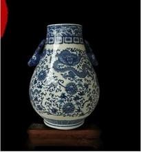 Jingdezhen ceramic vase antique porcelain tube deer statue Home Furnishing Fu modern fashion ornaments