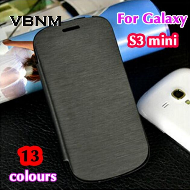 Original Bag Battery Housing Slim Shell Leather <font><b>Flip</b></font> Back Cover Sleeve Holster <font><b>Case</b></font> For <font><b>Samsung</b></font> <font><b>Galaxy</b></font> <font><b>S3</b></font> s4 <font><b>Mini</b></font> S3mini I8190 image