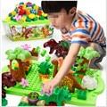 40Pcs/Lot Dino Valley Building Blocks Sets Large particles Animal Jurassic World Model toys Bricks  Duploe