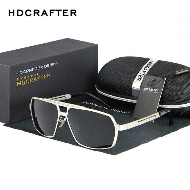 835b11860e1930 Aluminium Et De Magnésium lunettes de Soleil Hommes de Marque De Luxe Hommes  Carré Polarisées Conduite