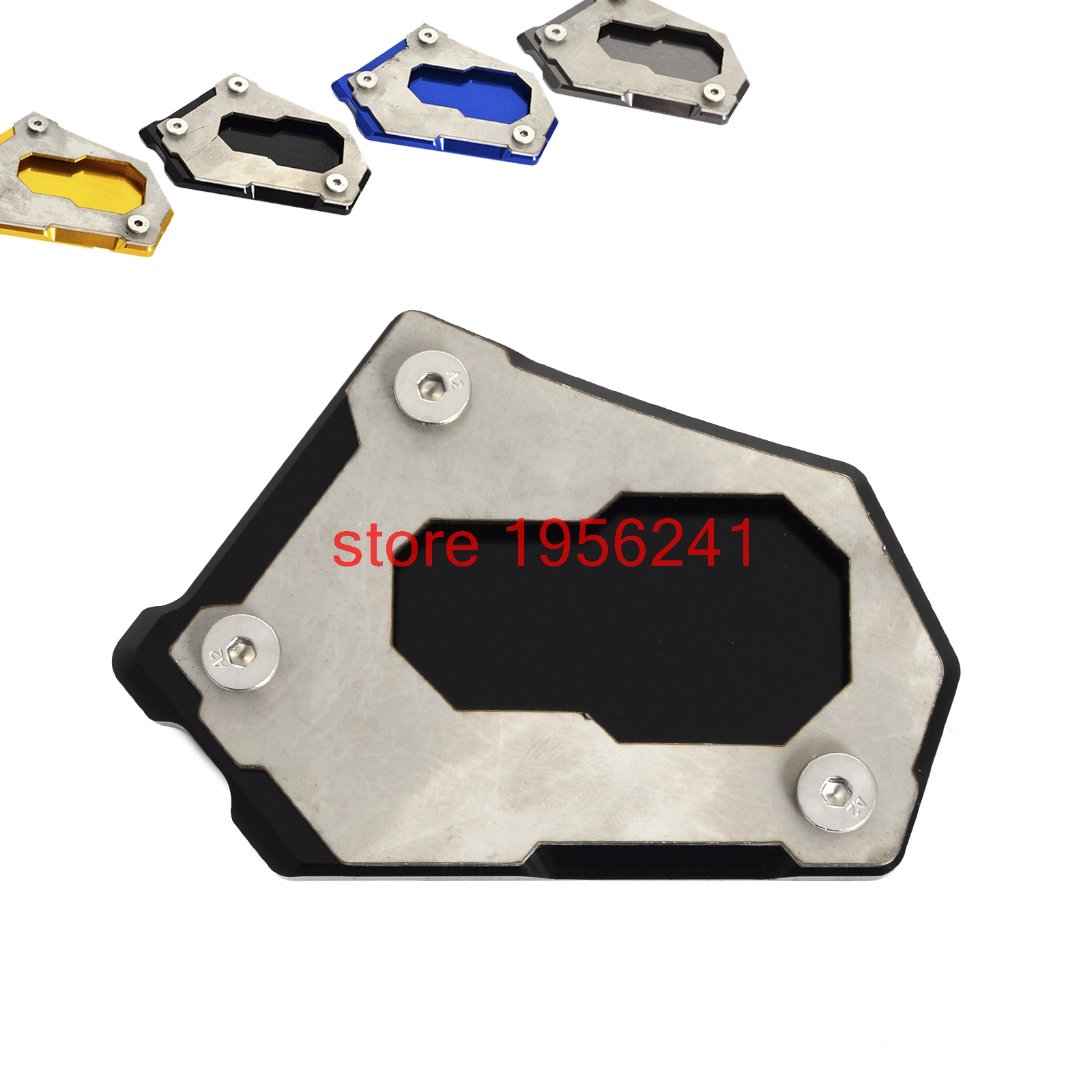 NICECNC CNC Side Kickstand Stand Extension Plate For BMW R1200GS Water Cooled 2013 2014 2015 2016 2017 R1200 GS