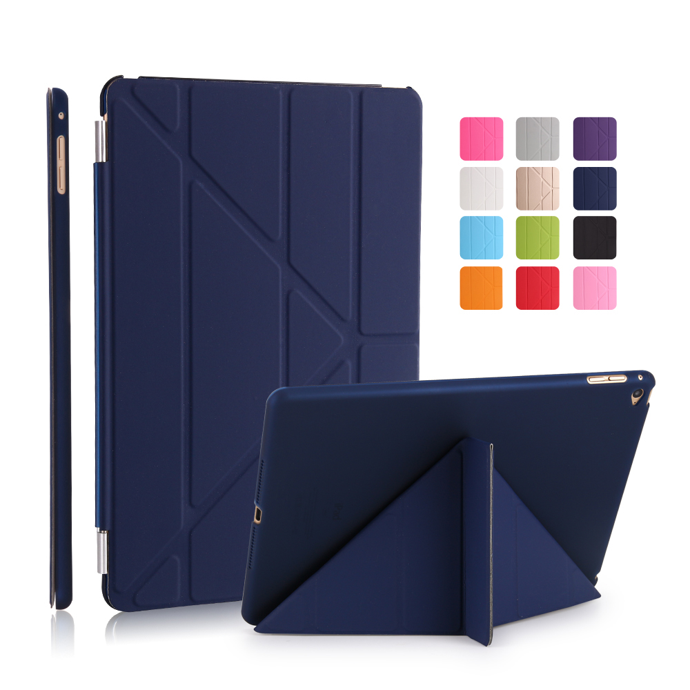 Case for ipad Air 2 / 2014 YRSKV Multi-fold PU leather Smart Sleep Wake cover+Hard PC Back Case For Apple iPad Protective Skin ctrinews flip case for ipad air 2 smart stand pu leather case for ipad air 2 tablet protective case wake up sleep cover coque