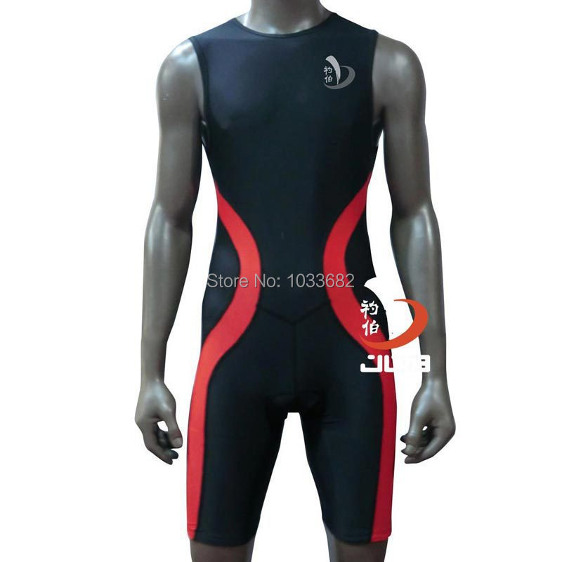 JOB mens one piece triarthlon suit  Ironman swimwear competitive swimming racing swimsuits suit men swimsuit knee boys swim