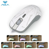 AULA Professionnel USB Optique 4-clé Gaming Mouse DPI Réglable Coloré Translucide Souris De Jeu avec Rétro-Éclairé Molette de défilement