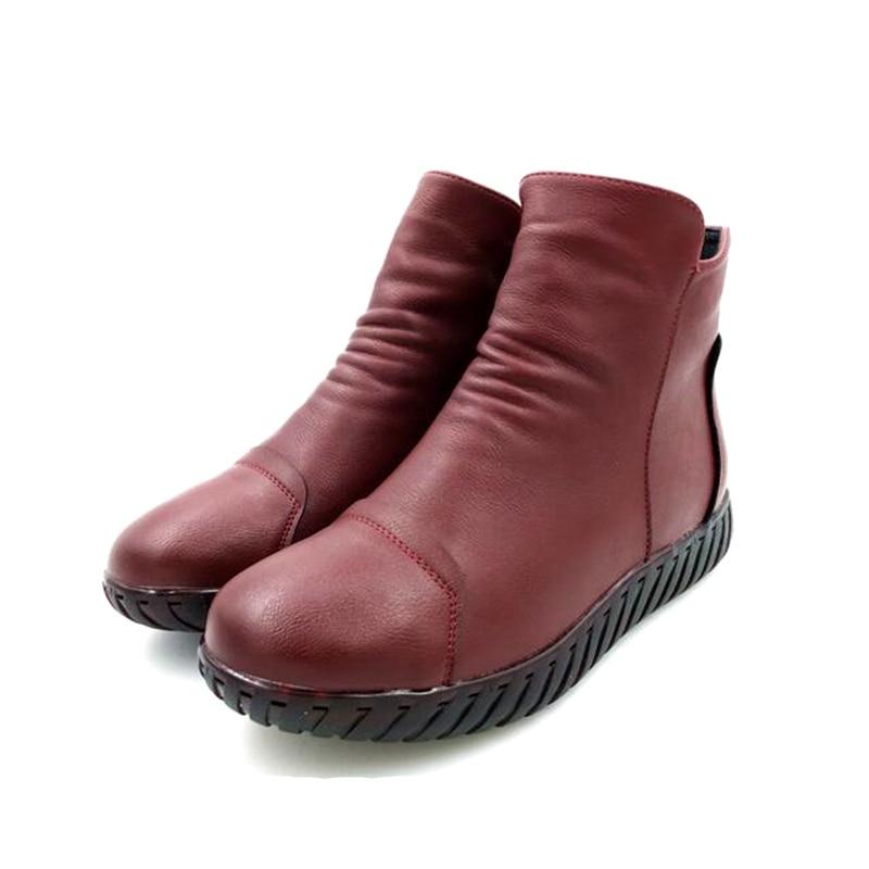De Plus 2288 Roured Antideslizante Mujeres Botas Desgaste Resistente Abedake Cremallera Zapatos Otoño Al Las Marca Invierno La fwBUOdnZ