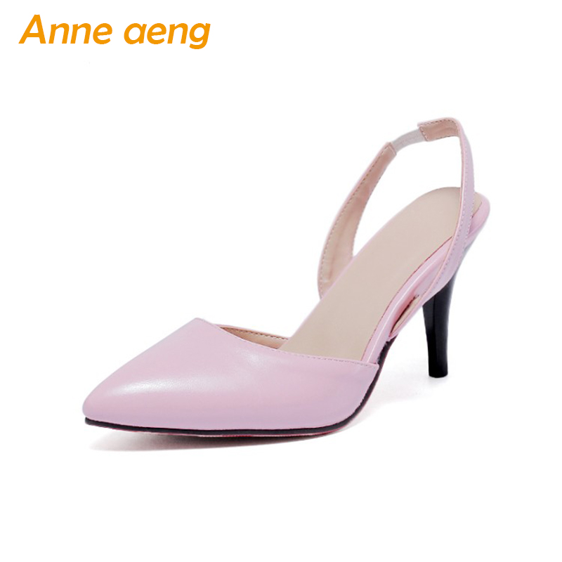 2018 Summer women pumps high thin heel office lady women shoes pointed toe big size 44 45 46 black pink high heels women pumps summer bling thin heels pumps pointed toe fashion sexy high heels boots 2016 new big size 41 42 43 pumps 20161217