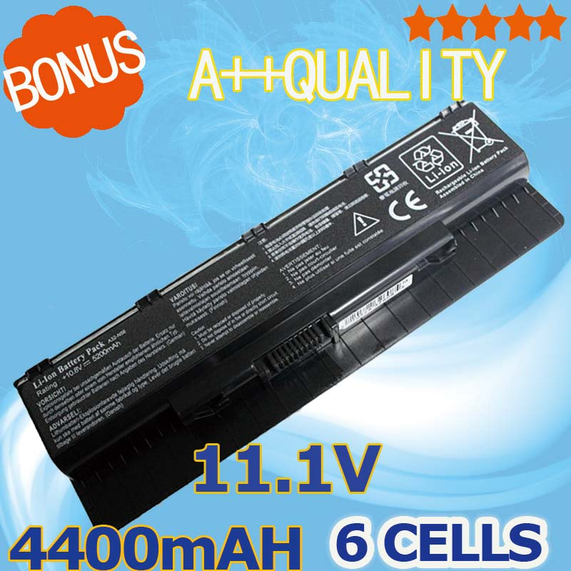 4400 mAh batterie D'ordinateur Portable Pour Asus N56 N56D N56J N56JK N56JN N56V N76 N76V R401 R401J R401V R501 R501D R501J R501V R701 R701V