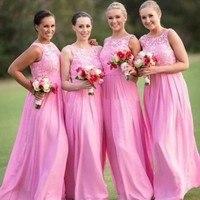 Оптовая Продажа Длинные свадебные платья 2019 розовое платье подружки невесты Свадебная вечеринка платье bruidsmeisjes jurk robe recepd'honneur