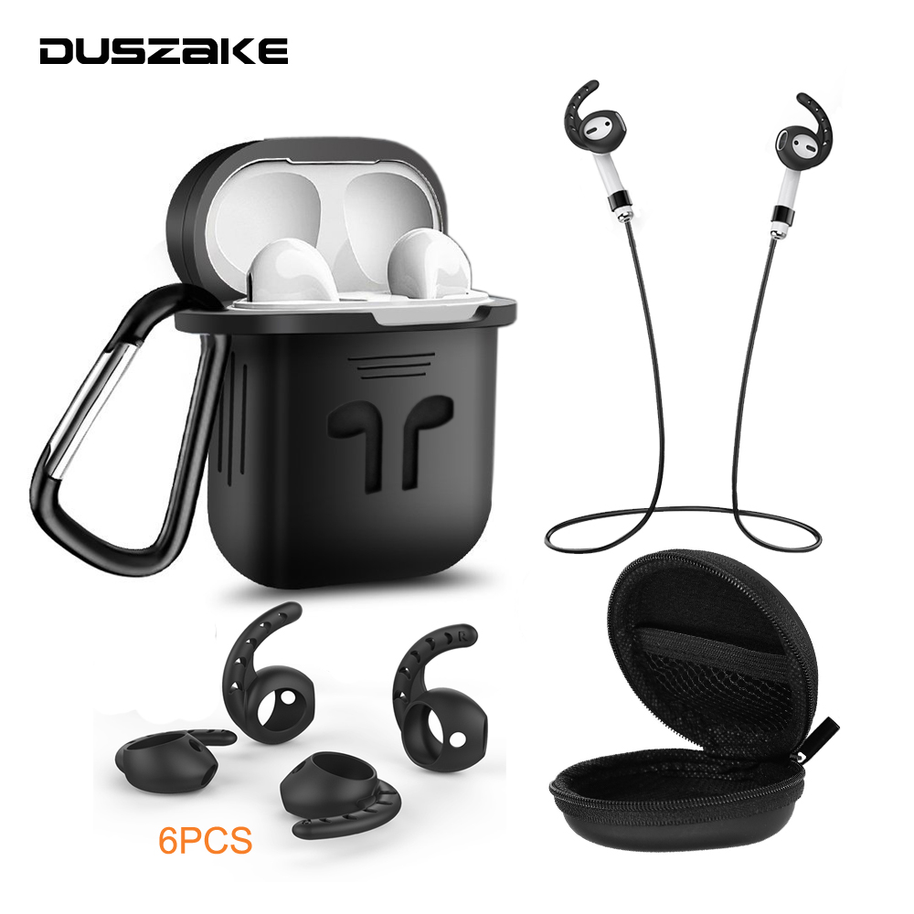 DUSZAKE DA-11 Strap For Airpod Case Silicone Cover For Airpods Bluetooth Accessories For Airpods Case For Apple Headphone Cover